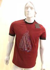 Louis Vuitton Men's Short Sleeves Cotton Round Neck Print T-shirt Size S -HURRY