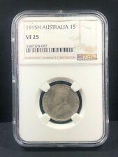 1915 H Australia 1 Shilling, NGC VF 25, Scarce Heaton Mint