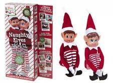 Pms Set of 2 Novelty Naughty Adult Mischievous Christmas Elf Sit on Shelf Red