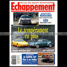 ECHAPPEMENT N°293 FIAT CINQUECENTO PORSCHE 911 TURBO 3.6 968 CS R21 TURBO 1993