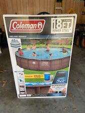 New listing Coleman 18ft x 48in Power Steel Deluxe - Above Ground Swimming Pool - Ships Fast