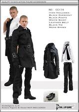 1/6 Scale Men's Windbreaker Overcoat Pants Shirt Belt Tie Shoes Set F Man Figure