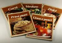PRL) CUCINARE LISA BIONDI 5 VOLUMI DE AGOSTINI COLLEZIONE LIBRI BOOK COLLECTION