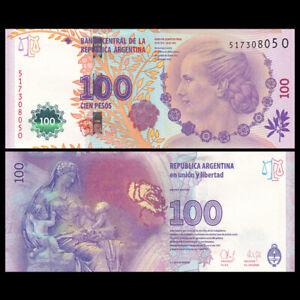 Argentina 100 Pesos, ND(2012), P-358, Evita Peron, Commemorative, Banknote, UNC