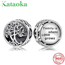 Genuine PANDORA Family Roots Family Tree charm Silver S925 Grown Bead Jewelry