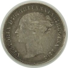 1877  3 PENCE GREAT BRITAIN QUEEN VICTORIA KM#730 - VF+ DETAILS - (102520)
