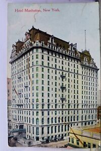 New York NY NYC Hotel Manhattan Postcard Old Vintage Card View Standard Souvenir