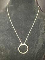Gold Tone Circle Necklace