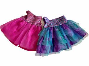 Build a Bear Workshop Tulle Sequins Dress & Single Strap Tulle Sequins Dress Lot