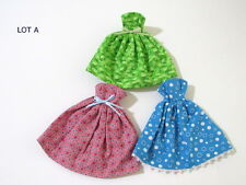 Lot of 3 Handmade Strapless Dresses Clothes For Barbie Doll Lot A - NEW