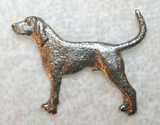Coon Hound Coonhound Dog Harris Fine Pewter Pin Jewelry Art Usa Made