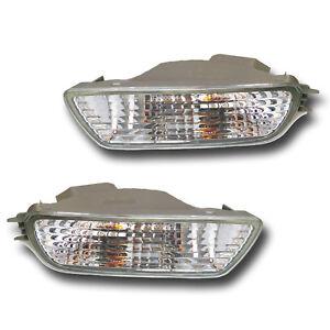 Fits 01-04 Toyota Tacoma Driver + Passenger Bumper Turn Signal Light Lamp 1 Pair