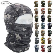 Camo Hunting Balaclava Full Face Mask Uv Protection Airsoft Tactical Combat Cap