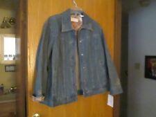 fae237517aa Liz Clairborne Woman 1x Embroidered Denim Jacket Exotic Influence