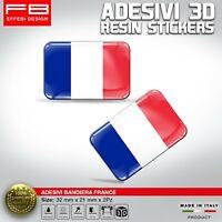Adesivi Stickers 3D Silicon Bandiera Francia France Auto Moto Camion Tir Gadget