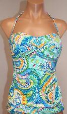 NWT Ralph Lauren Swimsuit Tankini Top Sz 8 Blue Bandeau