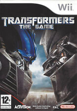 TRANSFORMERS THE GAME for Nintendo Wii - with box & manual - PAL
