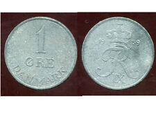 DANEMARK  1 ore 1959  zinc