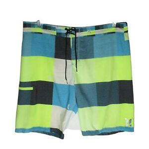 Hurley Phantom Boardshorts Blue/Gray/White Swim Trunks Mens  Size 40 EUC