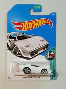 Hot Wheels Tooned 6/10 Lamborghini Countach White NEW Tinted Windows 2017