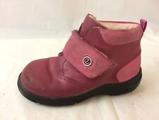 Ecco Girls 6.5 Toddler Boots Casual Pink Leather Shoes Fuchsia Euro Size 22