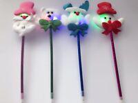 4x Christmas Santa Claus snowman Led Lighten Up Pen Party Novelty Favor Gift
