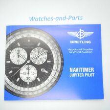 Breitling Navitimer Jupiter Pilot Instruction Manual Booklet GENUINE ORIGINAL