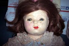 """Vintage 22"""" Fat Amer Char Doll Very Old Creepy See All 10 Pics For Description"""