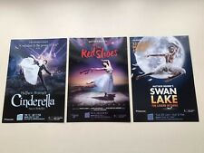 Theatre Flyer X 3 Matthew Bourne's SWAN LAKE THE RED SHOES CINDERELLA