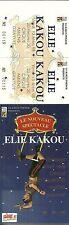 RARE / TICKET SPECTACLE COMIQUE CONCERT LIVE - ELIE KAKOU A AMIENS 1998