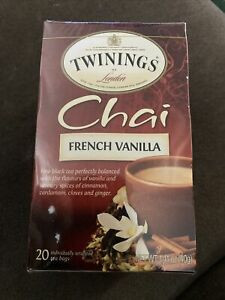 Twinings French Vanilla Chai - 20 count Sealed