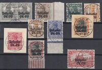 6936/ GERMANY WWI EASTERN FRONT – MI # 1 / 6 – 8 / 10 – 12 USED