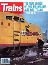 Trains Magazine May 1977 The Final Edition Of This Streamliner Also Was Yellow