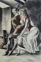 BERTHOMME SAINT-ANDRE :  Les amoureux secrets - EAU FORTE érotique, 1931, 346ex
