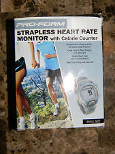 SPORT NEW  Pro-Form Strapless Heart Rate Monitor w/Calorie Counter Size Small