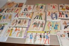 Lot 30 Vintage SEWING PATTERNS Womens 50s - 70s Mod Hippy #6