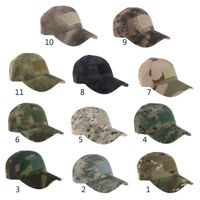 Military Tactical Camouflage Hat Outdoor Cap Hunting Baseball Men Army Camo Caps