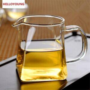 Tea Set Teapot Kettle Set Cup Flower Tea Convenient Durable Square Glass Bottom