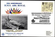 Great Britain Hms Ark Royal 50th Anniv Loss Cachet Cover (35%)