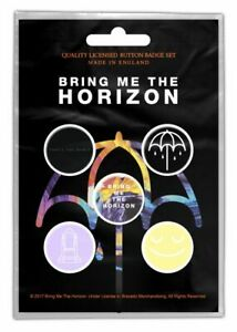 Bring Me The Horizon pack of 5 round pin badges (rz)
