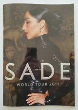 SADE WORLD TOUR BOOK 2011 - BRAND NEW!!!