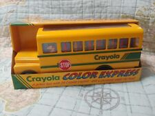 Vintage Crayola Color Express School Bus with Crayons and Sharpener Brand New