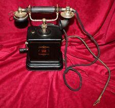 antike dänische handkurbel tischplatte telefon, jydsk telefon aktieselskab