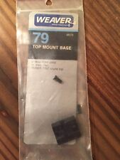 Weaver Top Mount Base #79 - Ruger- New Old Stock
