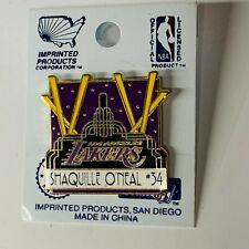 Shaquille O'Neal #34 LA Lakers Team Stadium NBA Vintage 1998 NOS Hat Lapel Pin