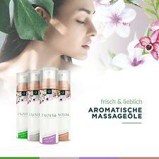 Massageöl Duftöl Küssbar Lecker Massagcreme 100ml Spender & 4 Düften Exotiq