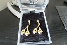 Gold Colour Bling  drop Earrings beaded new never worn