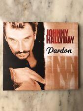 "JOHNNY HALLYDAY ""PARDON"" CD SINGLE EDITION LIMITEE DELUXE NEUF CD TRANSPARENT"
