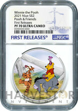 2021 DISNEY WINNIE THE POOH SERIES - POOH & FRIENDS - NGC PF70 FIRST RELEASES