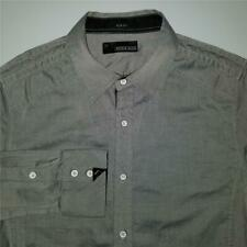 Mens BUCKLE BLACK LABEL Slim Fit Button Down Fashion Dress Shirt - M